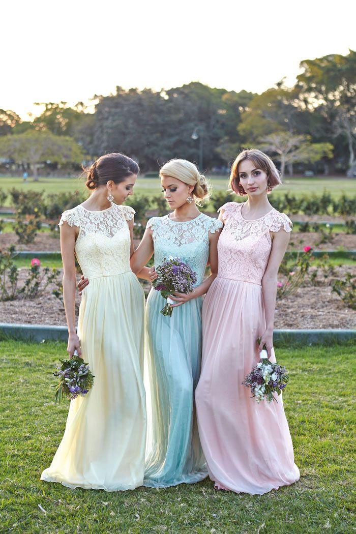 Lace Bridesmaid Dresses Long Modest Dress Cheap