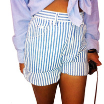 Women's Stripped Lee Shorts