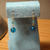 Blue & Gold Earrings