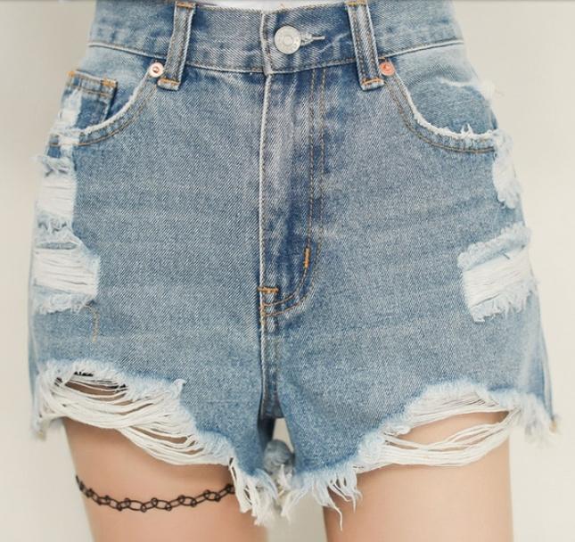 Destroyed Vintage High Waisted Denim Shorts · Fashion Struck