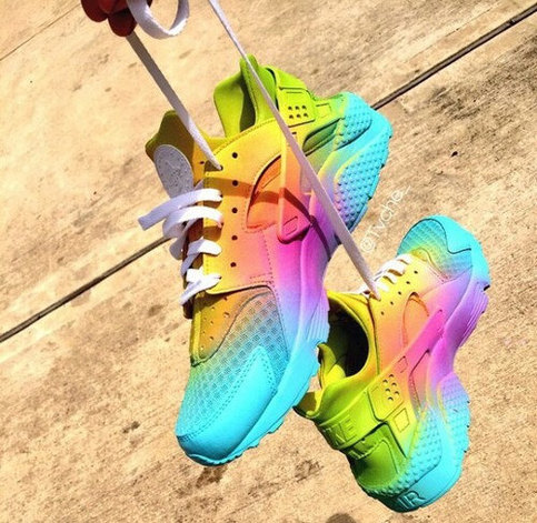 Nike Huarache Custom Quot Rainbow Days Quot Exclusive Pictures to pin