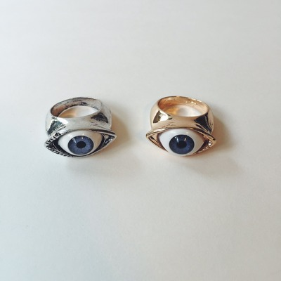 jewelry double protection women goldpd modern for talos ring rings evil eye gold heart