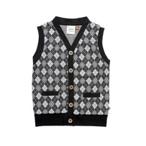Fore!! Axel & Hudson Mini Argyle Button Down Vest