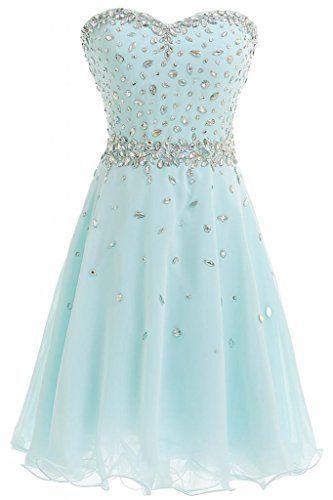 Light Teal Short Prom Dresses