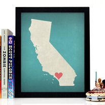 Image of California State LOVE, Giclee Art Print, 8 x 10 inches