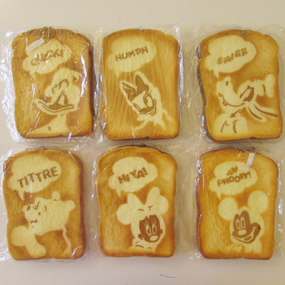 Jumbo disney bread toast squishies