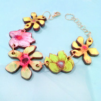 Laser Cut Tropical Flower Bracelet