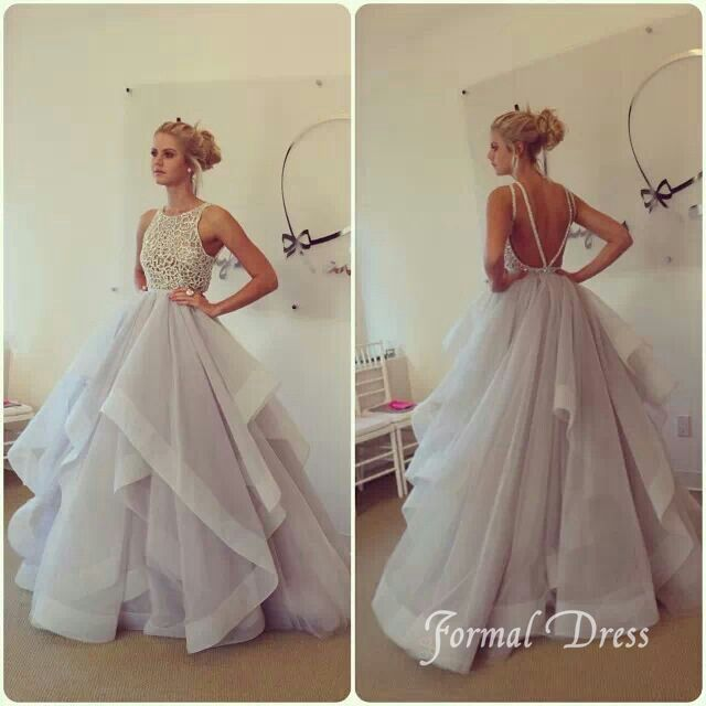 Tulle Long Formal Dresses