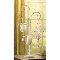 #14127 Crystal Drop Votive Holder