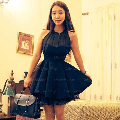 Navy Homecoming Dress