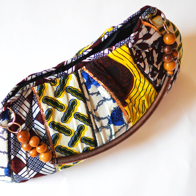 Amope - handmade print sequined tote