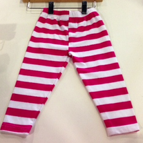 Hula Mula Wild Cherry Leggings 2T Striped