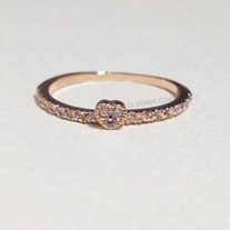 Tiny heart ring -Rose gold