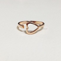 Open heart ring - Rose gold