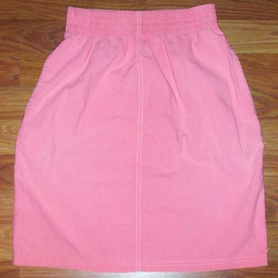 Vintage 1980s hang ten coral/salmon high waisted skirt, size small