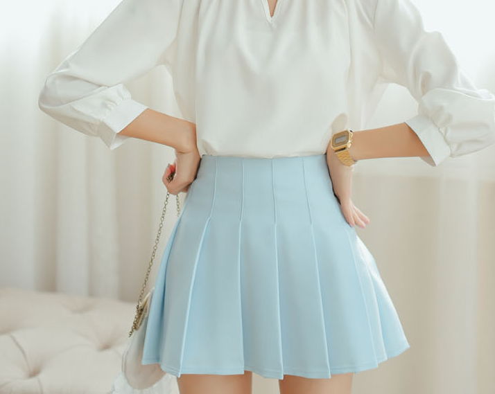 Baby Blue Pleated Skirt · Sandysshop · Online Store Powered by ...
