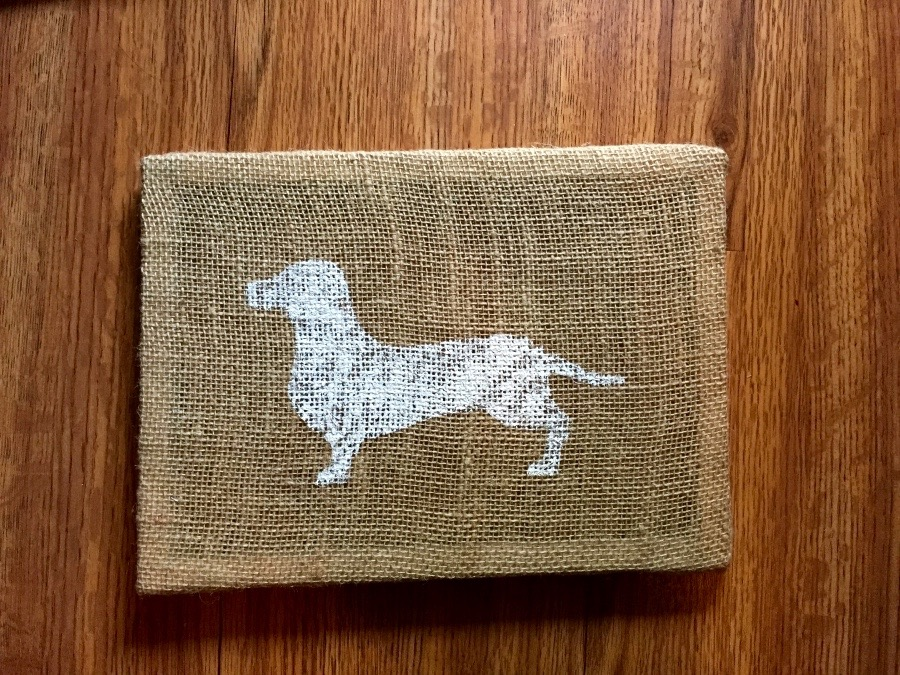 Dachshund Wall Art hand-painted dachshund wall art (burlap) · dachshunds of instagram
