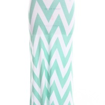 Mint Chevron Maxi Skirt