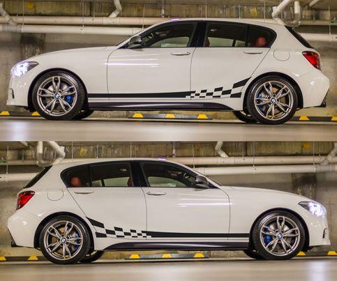 spk020 bmw m135i racing stripes sticker decal kit germany dtm euro hatchback turbo drift rally. Black Bedroom Furniture Sets. Home Design Ideas
