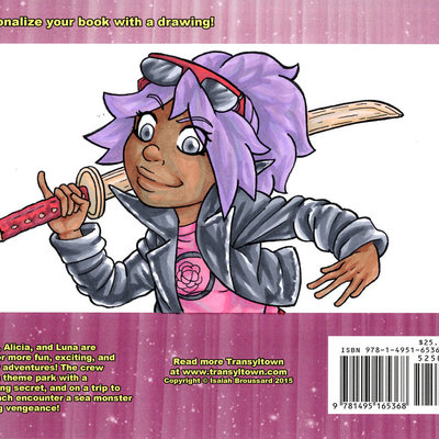 Transyltown volume 2: starlight summer w/ colored back cover sketch