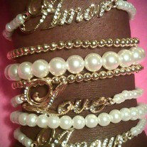 Pearls & Gold Stack Bracelets