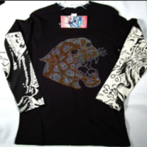 Ed Hardy Double Sleeve Panther Tee