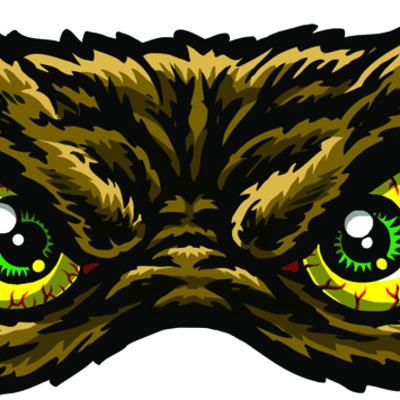 Yeti Eyes Full Color Shaped Vinyl Sticker Jimbo Phillips - Full color vinyl stickers
