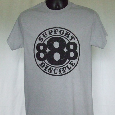 Gray 888 support shirt (s-5x)