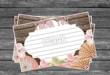 Shabby Chic Matching Thank You Card Invitations More By