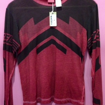 Diesel Tanery Long Sleeve Red T-shirt
