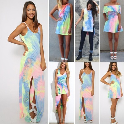 Sexy colorful dress gvt27cd