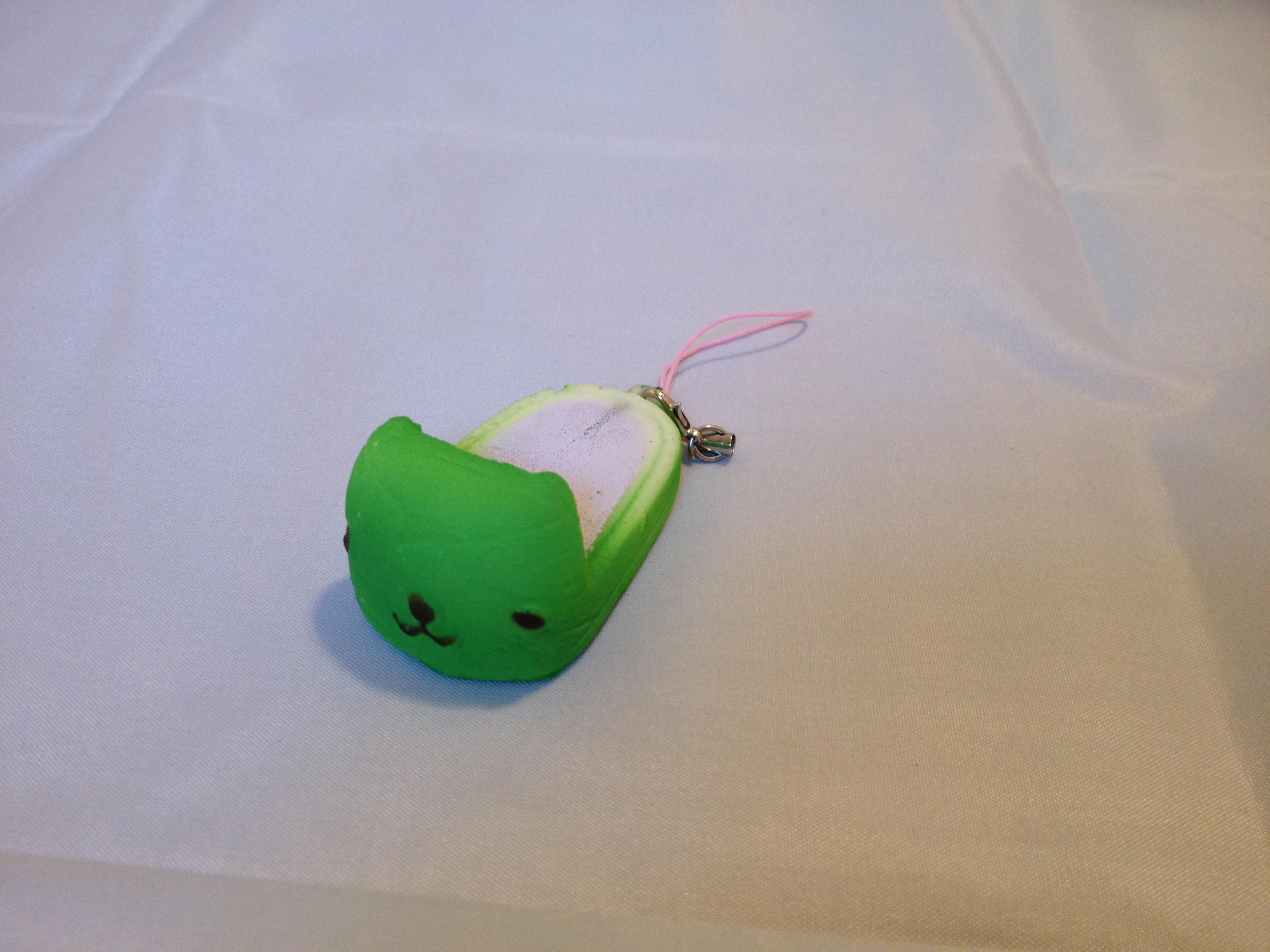 Green Squishy Toys : Mini Green Kapibarasan Slipper Squishy ? Tiki Tembo ? Online Store Powered by Storenvy