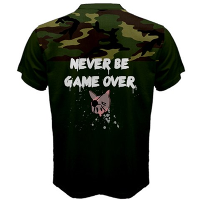 Never be game over mens t shirt xs-3xl