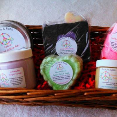 Large gift basket all natural bath products you choose