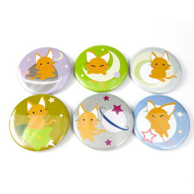 Mooncutie mau space cat pinback buttons