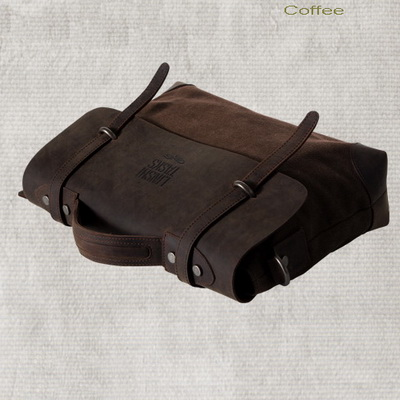 Retro Leather Flap Canvas Cross Body Briefcase Bags   Thumbnail 1 ...