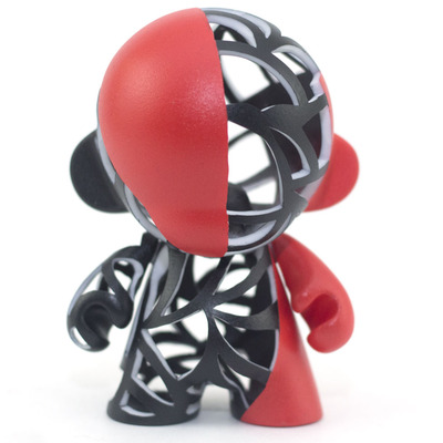 Tri-color reticulated munny