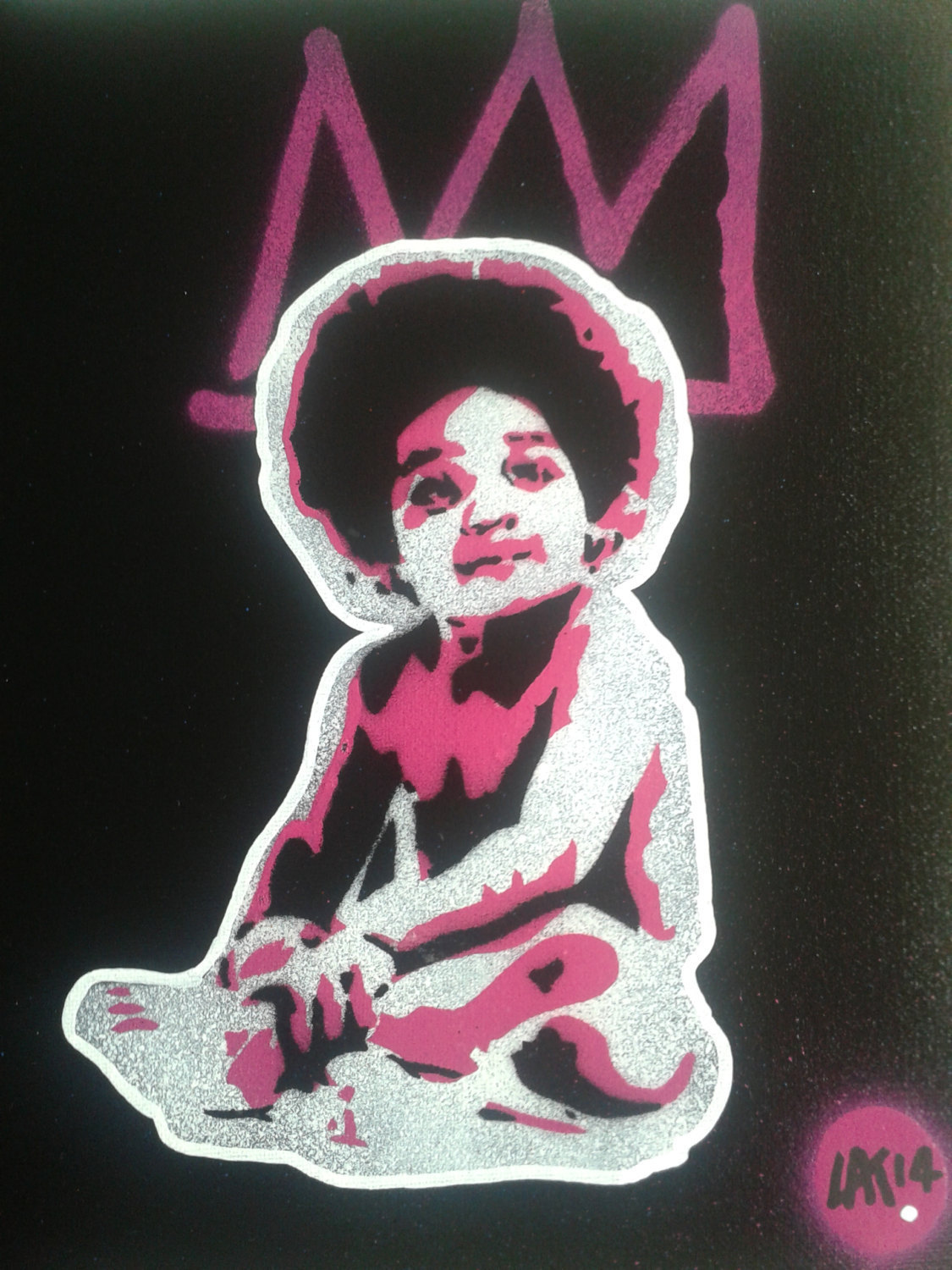 Biggie Smalls Baby Painting8 By 10 Inch Canvasstencilsspray Paints