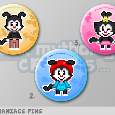 "Animaniacs 1.5"" pin back button badges"