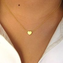 Dainty Heart Necklace in silver or gold
