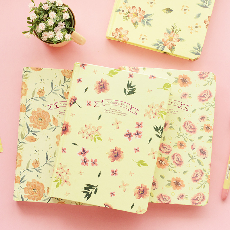 Vintage Flower Diary Notebook