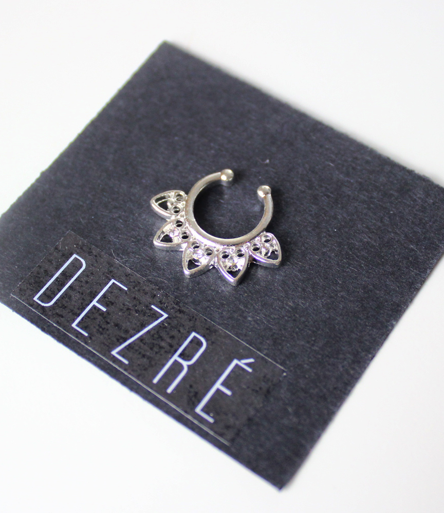 Faux Septum Ring Silver