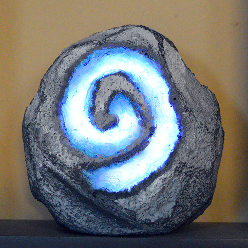 World of warcraft hearthstone light led hearth stone for Decoration chambre led