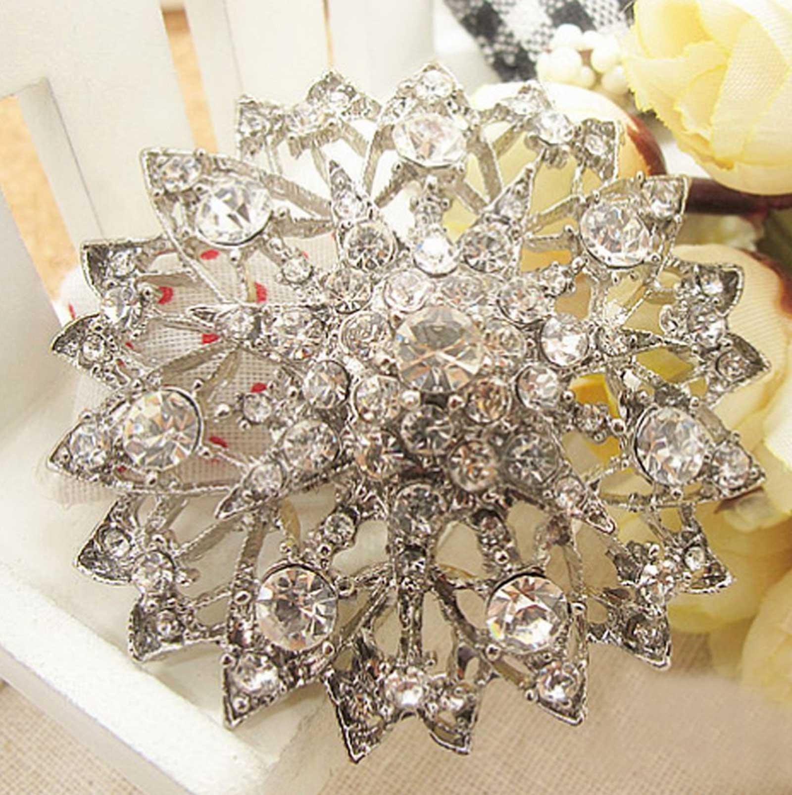 Clear Rhinestone Crystals Bridal Wedding Cake Round