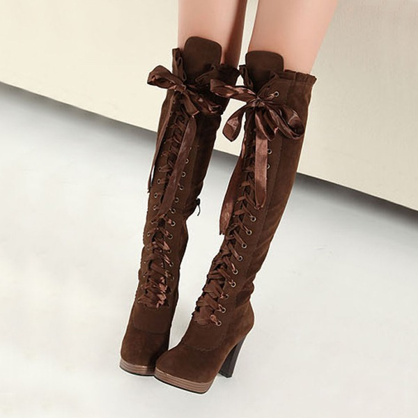 Lady fashion lace up bow boots · Cute Kawaii {harajuku fashion ...