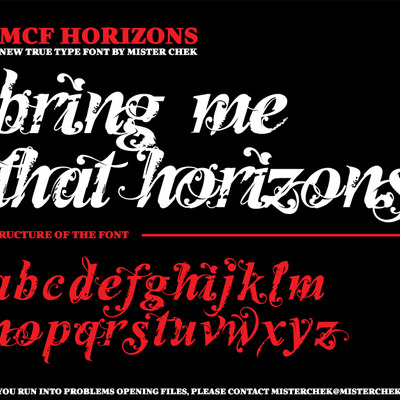 Horizons font by mister chek