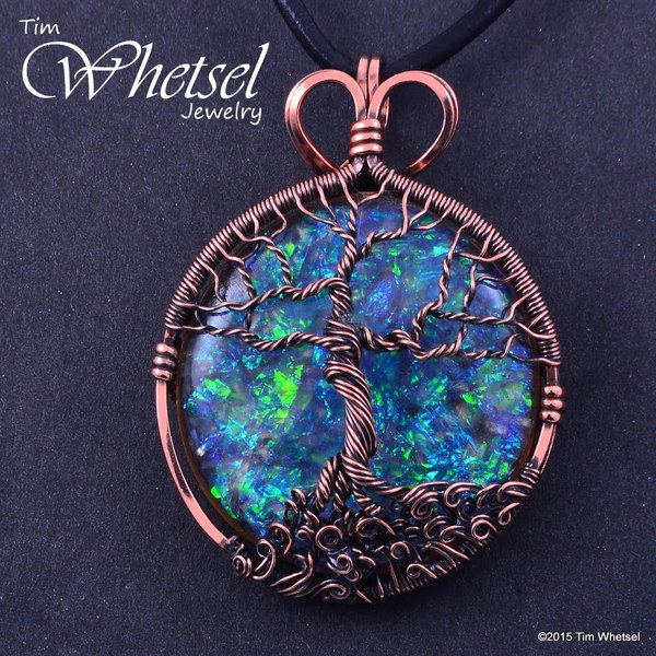 Copper Tree of Life Orgonite Necklace Pendant - Wire Wrap - Handmade ...