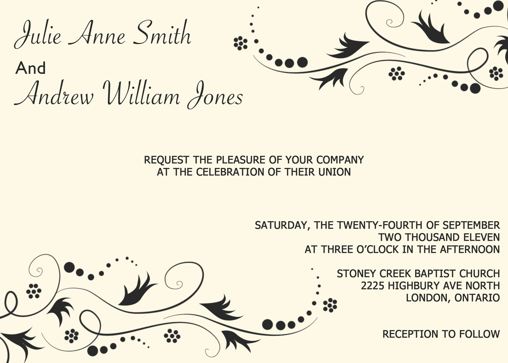 Lovely Digital Wedding Invitation 7 Online Store Powered by Storenvy