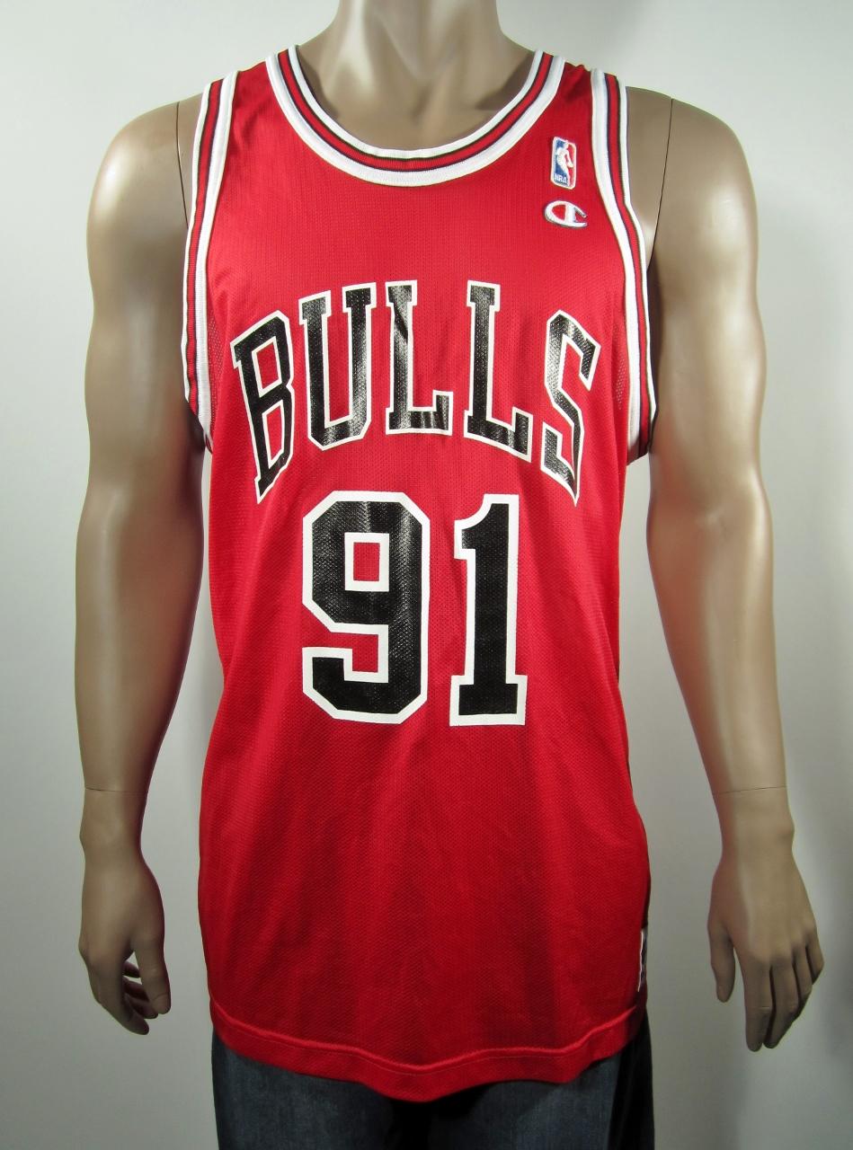 073fc3052d05 Dennis Rodman Chicago Bulls Champion Jersey 48 NWT · DFRNSH8 ...