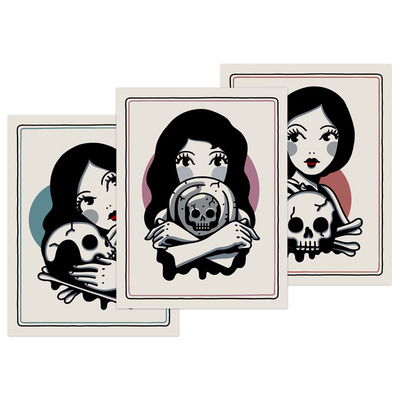 Print set: pretty girls make graves